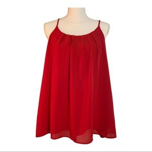 Moa Collection Red Spaghetti Strap Blouse